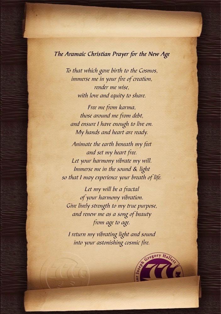 Aramaic Christian Prayer