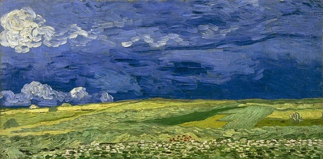 Vincent Van Gogh - Wheatfield Under Thunder Clouds