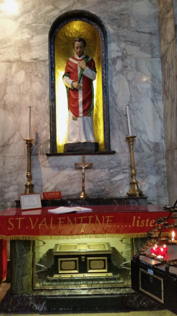 St. Valentine's Shrine at Whitefriar Church, Dublin, Ireland